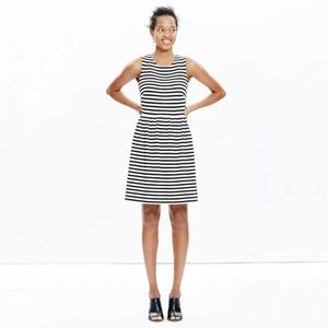 Madewell Afternoon Stripe Navy + White Dress S